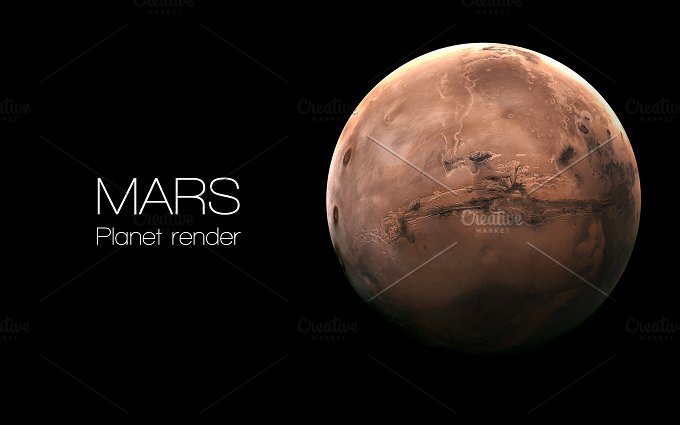 Mars - High resolution 3D images presents planets of the solar system. This image elements furnished by NASA. - Education