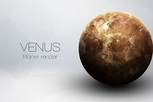 Venus - High resolution 3D images presents planets of the solar system. This image elements furnished by NASA.