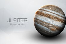 Jupiter - High resolution 3D images presents planets of the solar system. This image elements furnished by NASA.