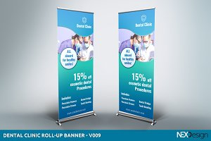 Dental Clinic Roll-Up Banner - SB