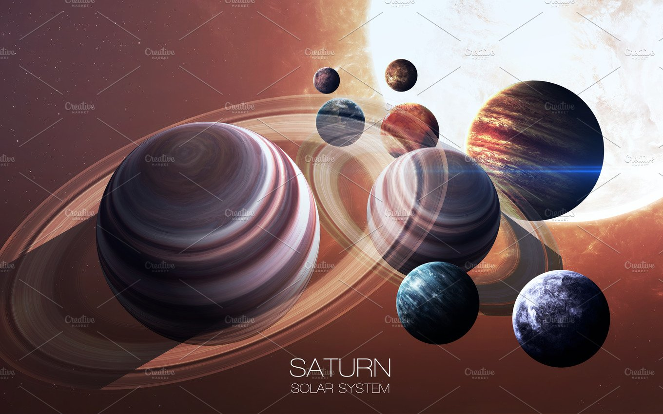 Saturn - High resolution images presents planets of the ...