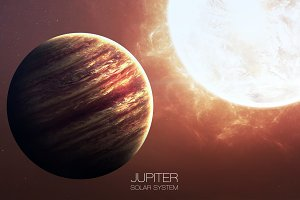 Jupiter - High resolution images presents planets of the solar system. This image elements furnished by NASA.