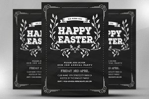 Happy Easter Invite Flyer Template