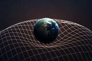 Gravitational Waves illustration. This image elements furnished by NASA