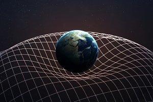 Gravitational Waves illustration. This image elements furnished by NASA