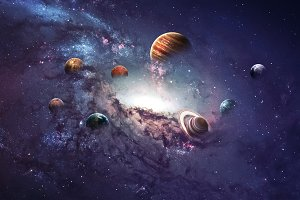 High resolution images presents creating planets of the solar system. This image elements furnished by NASA.