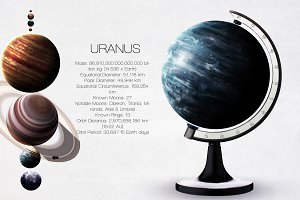 Uranus - High resolution images presents planets of the solar system. This image elements furnished by NASA.