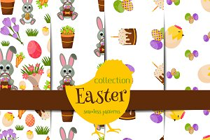 Happy Easter seamless pattern setV.2