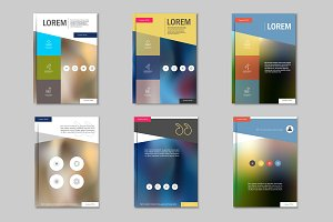 Brochure design template. Vol.4
