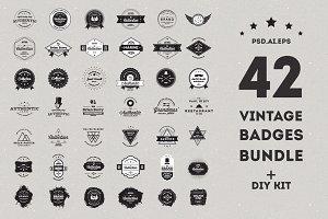 Vintage Badges Bundle - 90% off