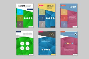 Brochure design template. Vol.6.