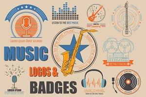 Music logos & badges