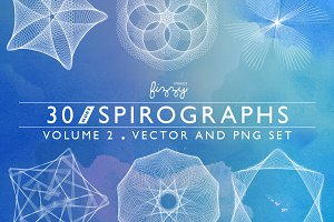 30 Spirographs Vol 2 – Vector & PNGs