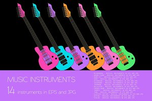 Musical instruments colour version