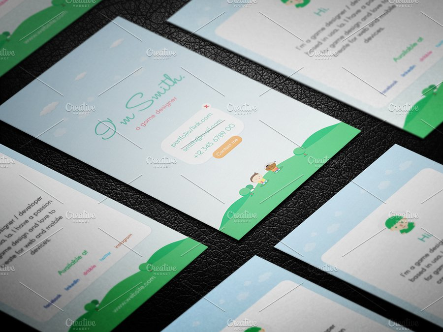 Game designer business card business card templates for Game designer business card