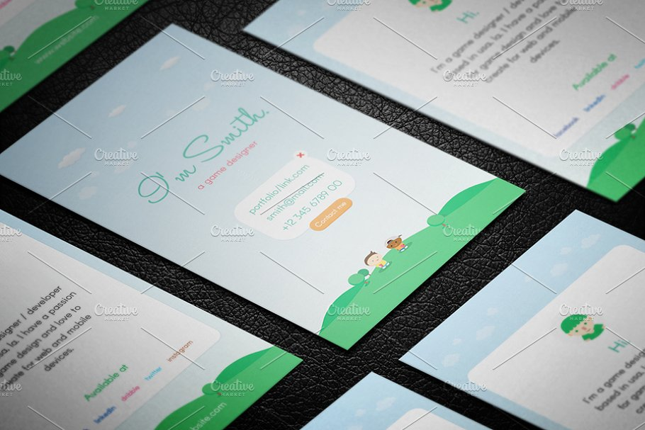 Game Designer Business Card Business Card Templates Creative Market