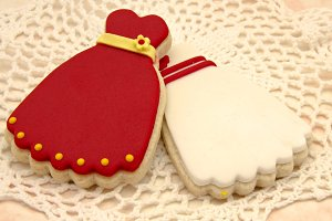Butter cookies decorated