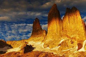 Torres del Paine at sunrise