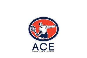 Ace Tennis Club and Coaching Logo