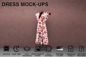 Dress Mockups - Women Clothing