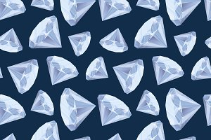Shiny diamonds on deep blue