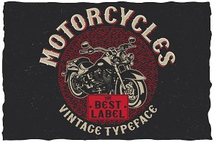 Motorcycles typeface