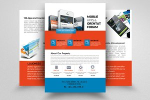 Mobile Apps Double Sided Flyer