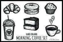 Morning Coffee- Hand Drawn Icon Set