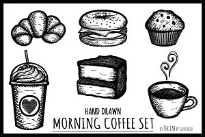 Morning Coffee- Hand Drawn Icon Set