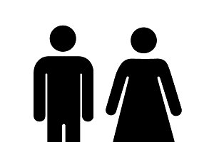 Men and women silhouette