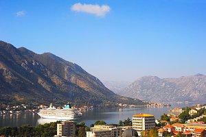 Cruise ship in Montenegro bay