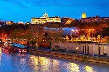 Tbilisi at twilight, Georgia