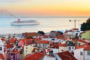 Beautiful Lisbon bay, Portugal