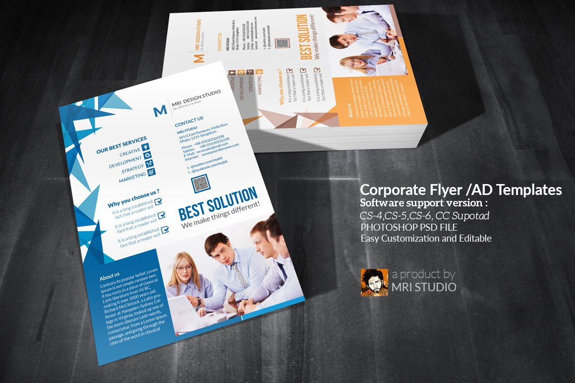 Corporate Flyer Ad Templates Flyer Templates Creative Market - Photoshop ad templates