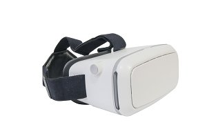 virtual reality headset in white
