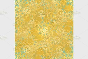 Seamless rusty cogwheel pattern