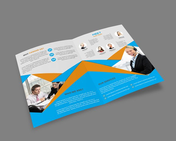 Bi fold brochure template brochure templates on creative for Bi fold brochure template illustrator