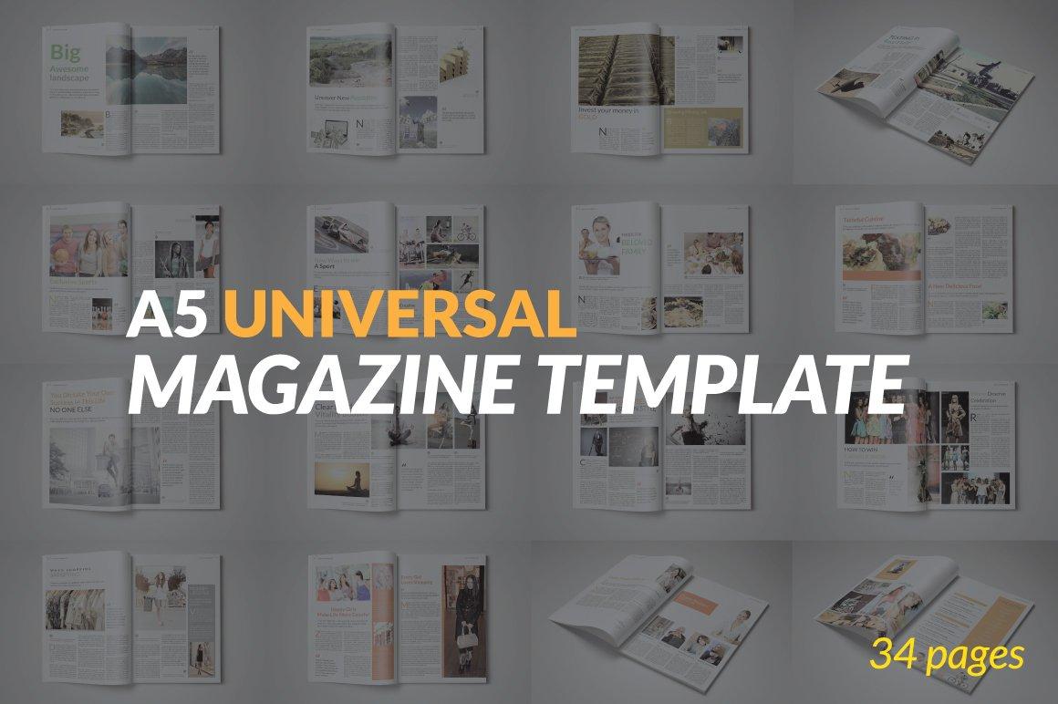 A5 Universal Magazine Template ~ Magazine Templates ~ Creative Market