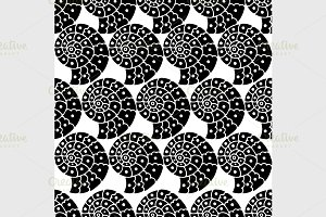 seamless black pattern