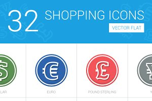 32 Shopping Icons