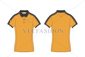 Women Polo Shirt Fashion Flat