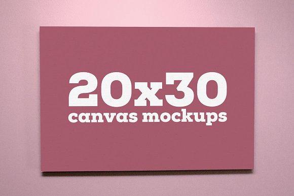 Download 20x30 Canvas Mockups