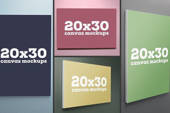 20x30 canvas mockups product mockups creative market