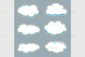 Cartoon clouds.