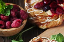 Sweet cake with berry