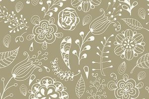 Seamless Floral Summer  Pattern