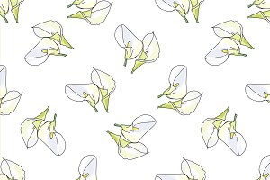 Pattern with calla