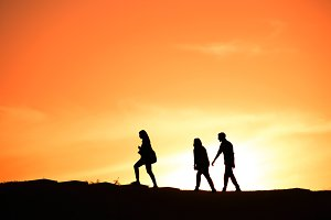 Group of people, silhouette
