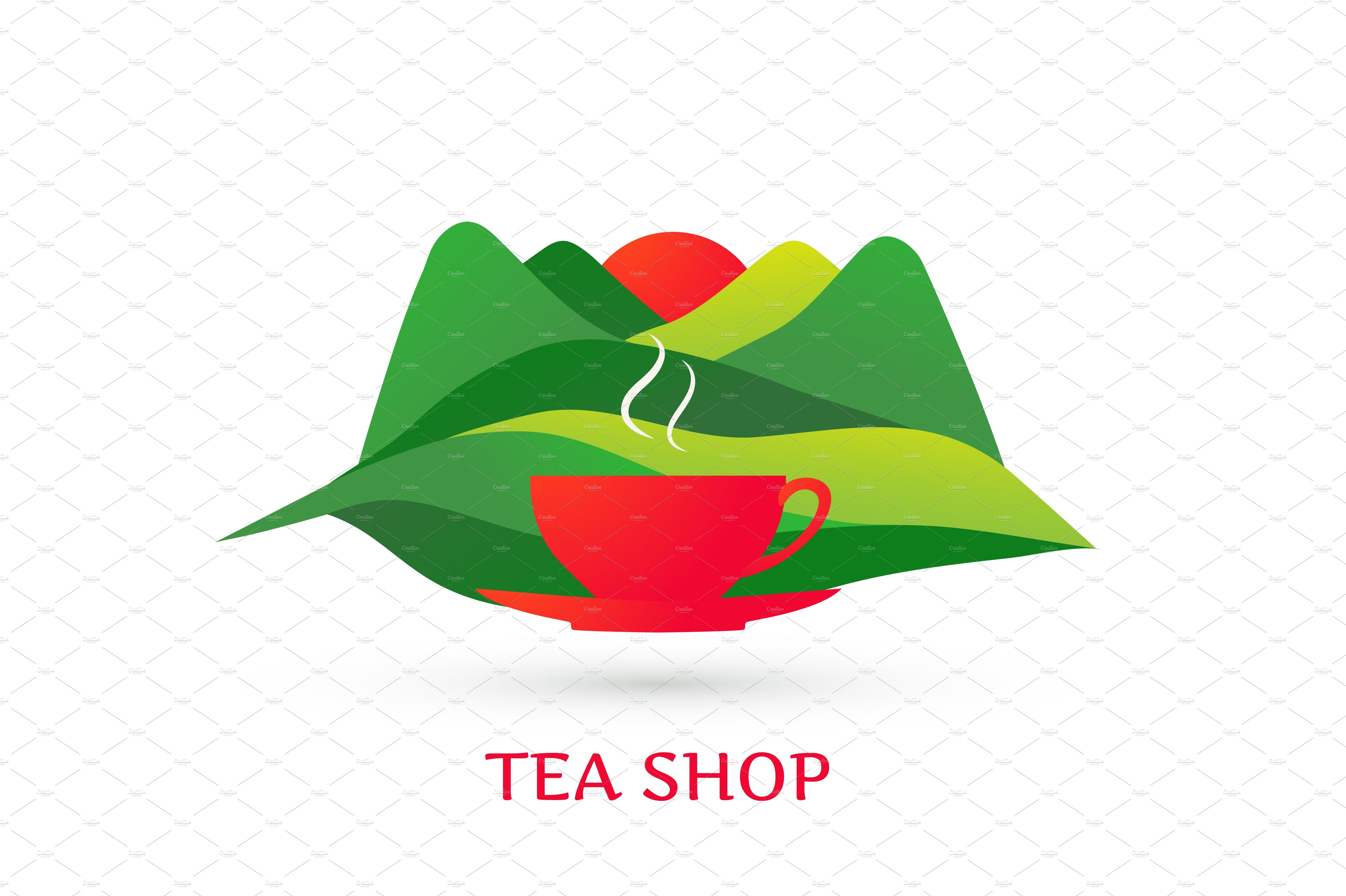 Tea shop logo ~ Logo Templates ~ Creative Market