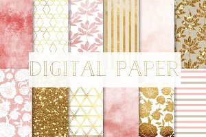"digital paper ""peonies"" set2"
